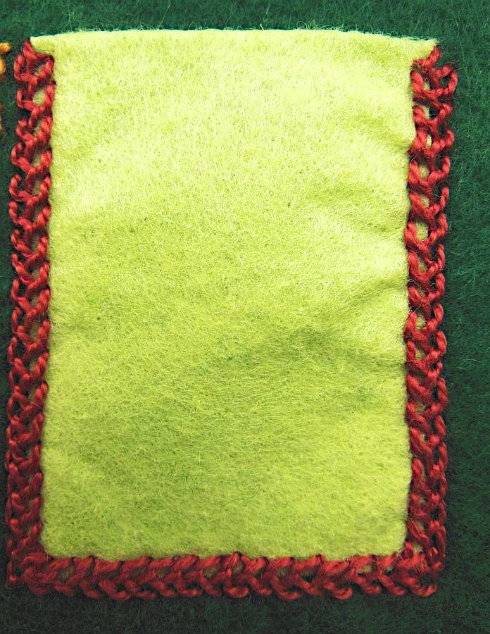 Embroidery, Needlecase, Closed Feather Stitch