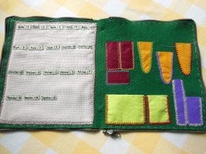 Embroidery, Needlecase, Sewing in of a Zipper