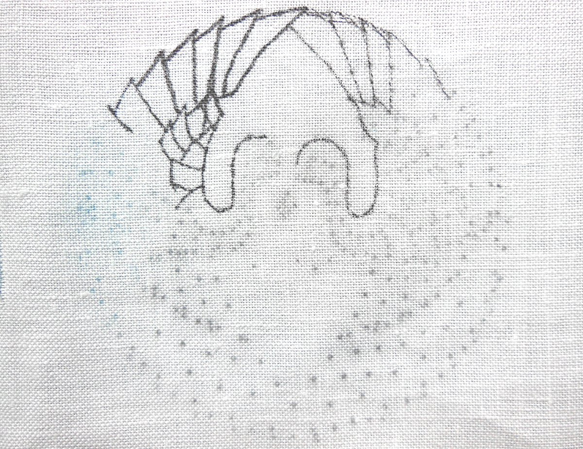 Embroidery, Design Transfer, Prick and Pounce, Charcoal, Pastel