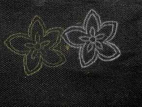 Embroidery, Design Transfer, Carbon Paper on Dark Fabric