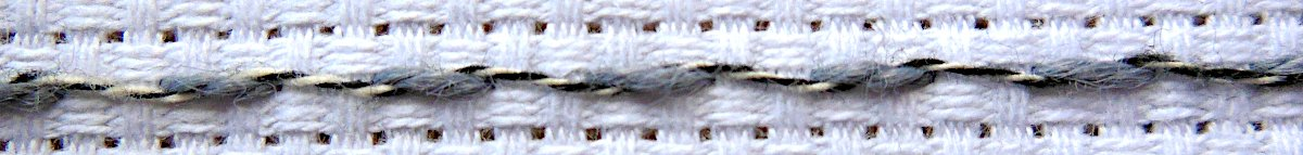 Whipped Running Stitch