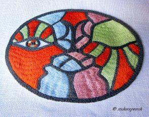 Embroidered Stained Glass Window